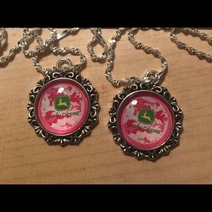 Jewelry - John deer country girl necklaces